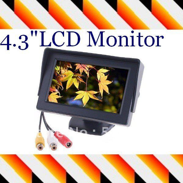"""4.3"""" Dashboard Backup LCD in Car , Color TFT LCD Car Monitor reverse Rearview for Camera GPS DVD VCR"""
