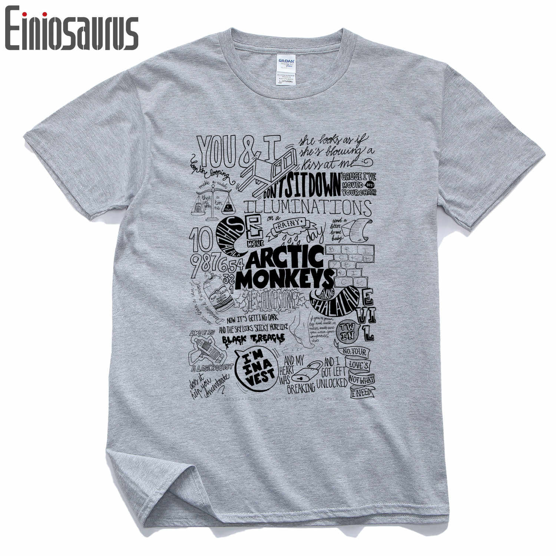 472d1ca6c Arctic Monkeys T Shirt Men Pure Cotton Hip Hop Men Short Sleeve O-neck Man