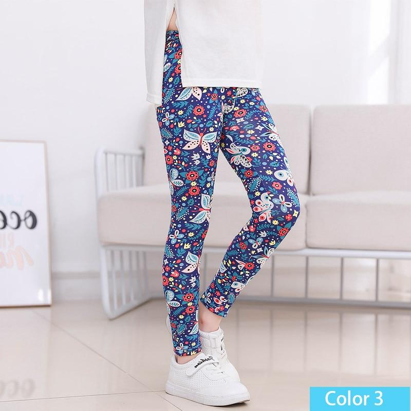 SheeCute/Леггинсы с принтом для девочек; одежда для маленьких девочек; Детские обтягивающие леггинсы с цветочным принтом; SC1752 - Цвет: color3