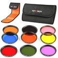 K & F Concepto 9 unids 58mm A Todo Color Kit de Filtro ND Lente Para Canon rebelde t4i t3i t2i t1i t3 para nikon d7100 d5200 d3200 d310018-55mm