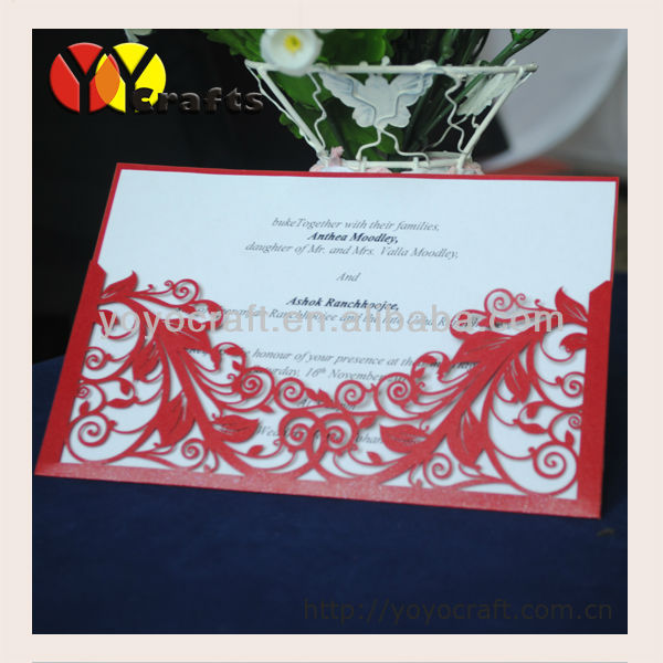 2013 hot sale wedding favor laser cut baby souvenir for Handmade wedding invitations for sale