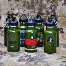 Large mouth vacuum double insulated kettle stainless steel bottle  outdoor sport travel riding hiking