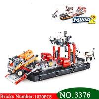 3376 technik series 2 in 1 Air kissen fähre bausteine Set DIY Bildungs Bricks Spielzeug für kinder-in Sperren aus Spielzeug und Hobbys bei
