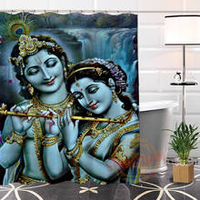 Custom Indian gods Fabric Shower Curtain Eco-friendly Unique bathroom With Hooks Curtain for Bath Decor(China)