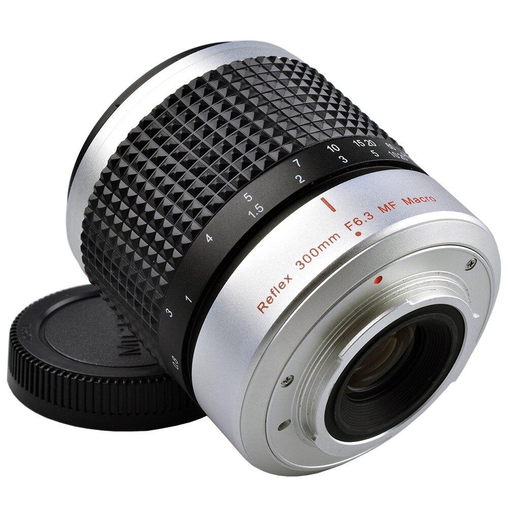 Objectif de caméra 300mm de distance focale F6.3 téléobjectif réentrant Micro-reflex pour Soni NEX Nikon J1 simple puissance M4/3 Mount