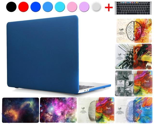 맥북 프로 13 A1706 터치 바 A1708 2016 공기 11 12 프로 13 망막 15 매트 하드 크리스탈 노트북 가방 커버 색상 쉘