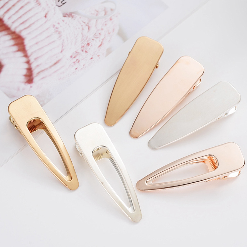 Simple Clip Side Clip Female New Style Hairpin Metal Hollow Hairpin Duckbill Clip Hair Accessories