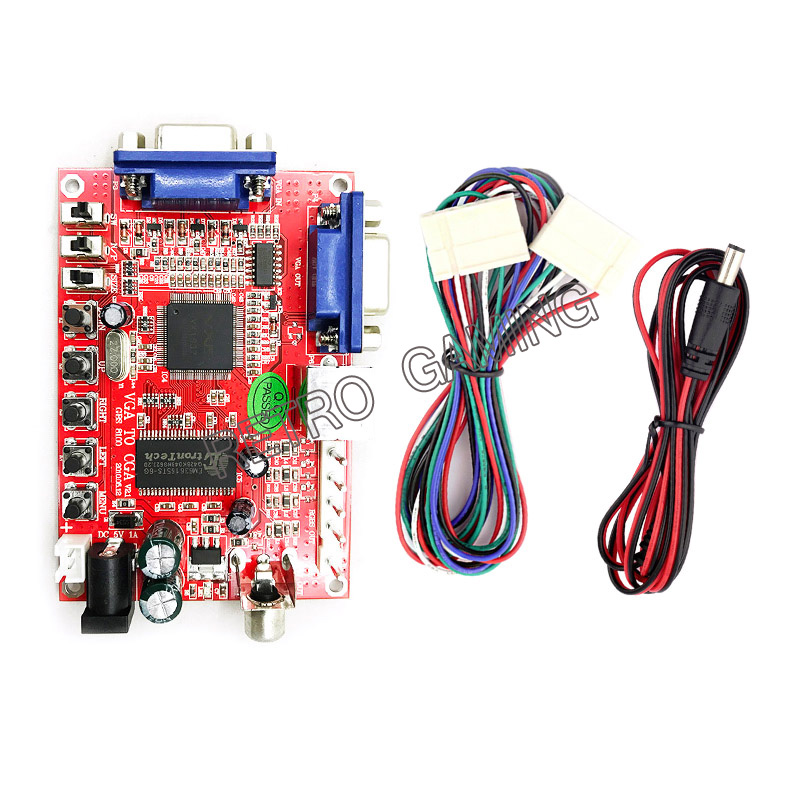 VGA To CGA/CVBS/S-VIDEO High Definition Converter Arcade Game Video Converter Board For CRT LCD PDP MonitorHot New Arrival