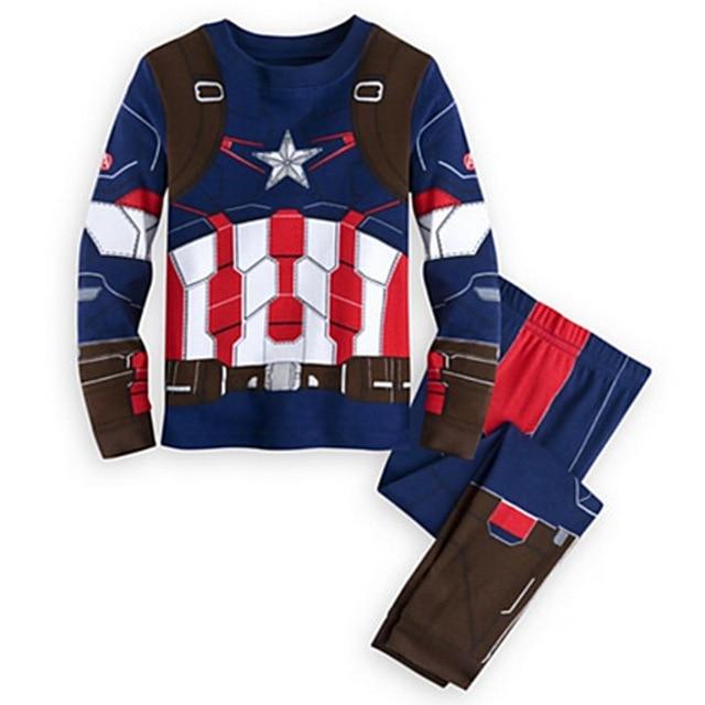 2019 spring autumn baby boy clothes set Spiderman Batman Superman Kids pajamas sets long sleeve tops+pants Child Clothing set 3