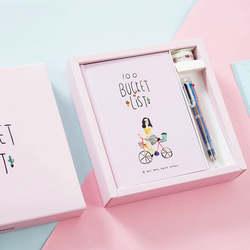 Креативные милые девушки дневник тетрадь бумага A5 Kawaii Мультфильм школьников мем планер заметок подарки канцелярские принадлежности