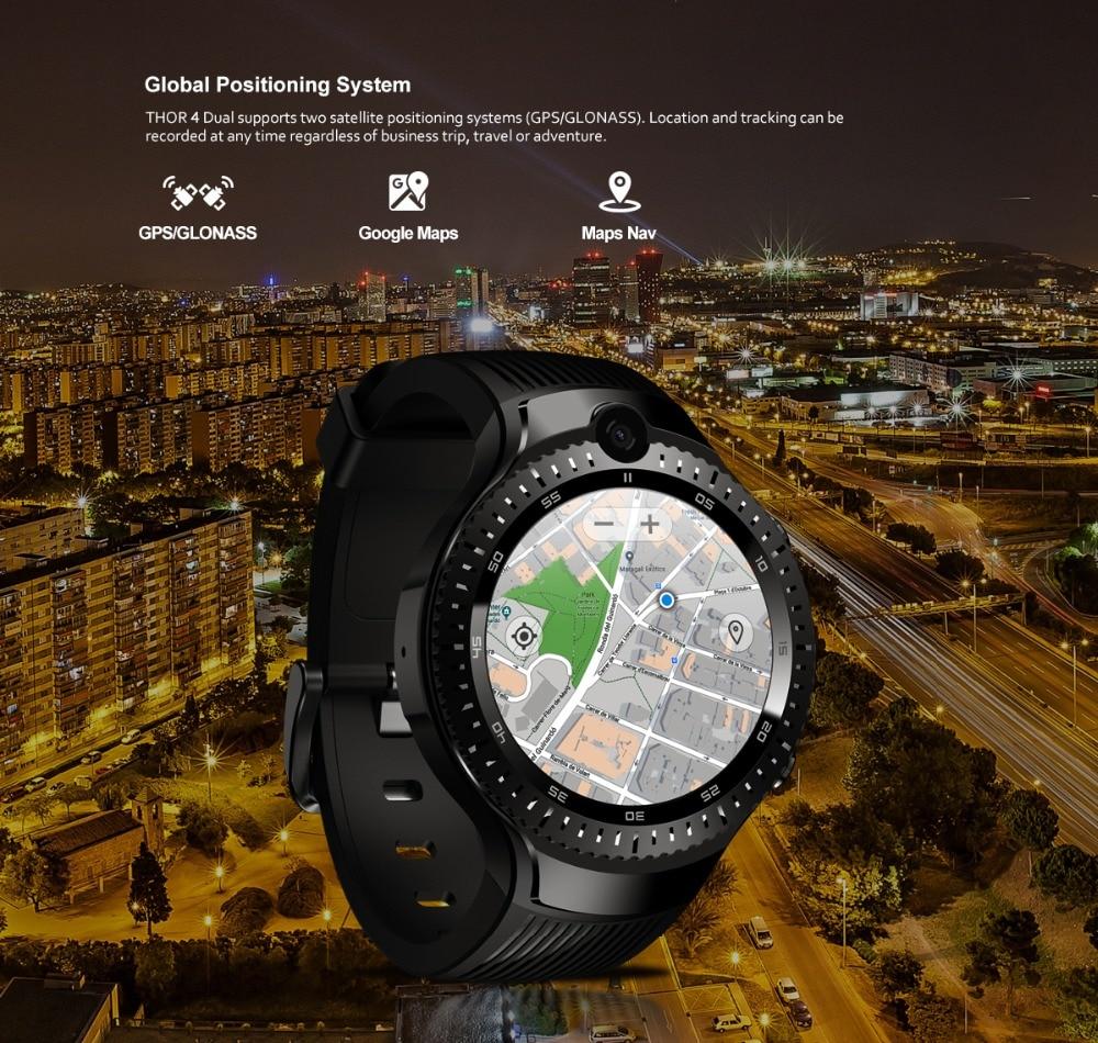 Zeblaze THOR 4 Dual 5.0MP Camera Smart Watch 4G GPS GLONASS Wifi Smartwatches 1GB RAM+16GB ROM Mic Speaker Answer Dial Call 2019 (7)