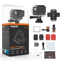ThiEYE T5 Edge With Live Stream WiFi Action Camera Real 4K Ultra HD Sport Cam with EIS Remote Control 60M Waterproof