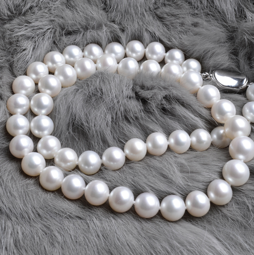 Eternal wedding Women necklace word 925  silver  The natural pearl necklace S925 8-9-10MM AAAA white silver clasp roundEternal wedding Women necklace word 925  silver  The natural pearl necklace S925 8-9-10MM AAAA white silver clasp round