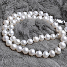 Eternal wedding Women Gift word 925 Sterling silver real The natural pearl necklace S925 8-9-10MM AAAA white silver clasp round недорого