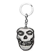 New Style MISFITS Punk Rock Band Keychain Keyring  Skull Music Logo Heavy Metal Gift