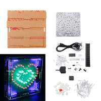 NEW DIY Full Color Heart shaped LED Electronic Kit PCB Circuit Board Kit With Shell Module