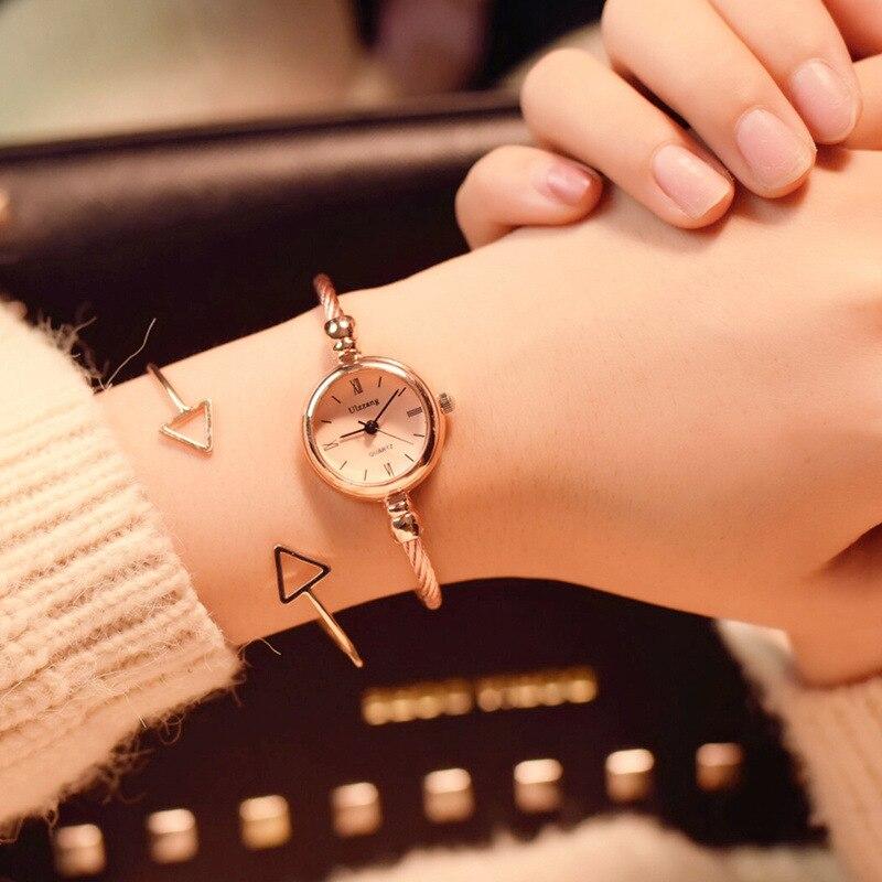שעון צמיד זהב קוורץ Ulzzang 4