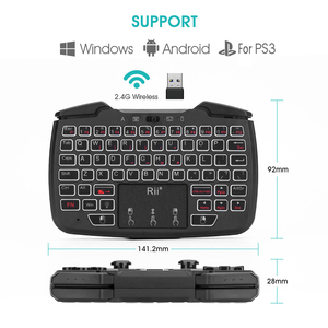 Image 4 - Rii RK707 Game Controller2.4GHz Wireless Keyboard with 62 keys Mouse Combo w/ Touchpad for PS3 TV Box Smart TV
