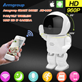 Armgroup Robot Camera 960P 1.3MP HD Wireless Baby Monitor WIFI Camera P2P Audio Security Cam Remote Home Monitoring IR Night Vis