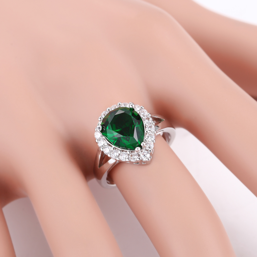 Pryme High Quality Brilliant Ring 925 Sterling Silver Ring Clear CZ ...