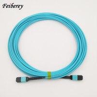 5 pcs/lot 12 Fiber MPO Patch Cord LSZH OM4 850nm 15m MPO(Male) Fiber Optical Patch Cable Fiber Optic Patch Cord MPO Trunk Cable