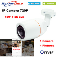 180 Degree Panoramic Fish Eye Lens IP Camera 720P Outdoor Waterproof CCTV Network Camera ONVIF Night