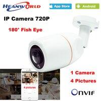 180 Degree Panoramic Fish Eye Lens IP Camera 720P Outdoor Waterproof CCTV Network Camera ONVIF Night