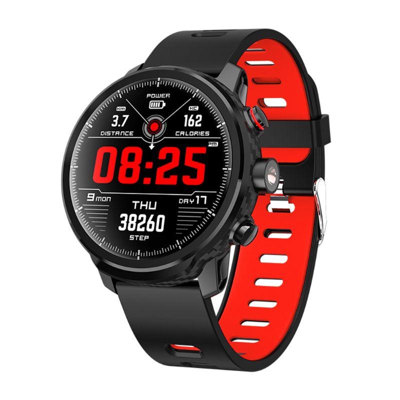 L5 Smart Watch MenIP68 Waterproof Heart Rate Fitness Tracker Message Call Reminder Weather Multiple Sport Smartwatch