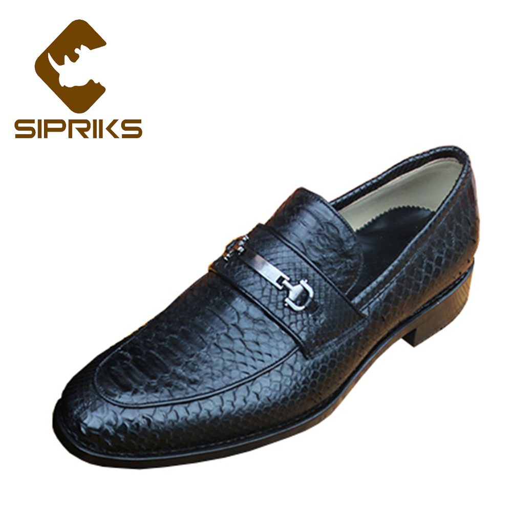 Men's Shoes Formal Shoes Buy Cheap Sipriks Men Slip On Dress Shoes With Single Monk Strap Red Brown Social Shoes Black Python Shoes For Men Business Office Flats