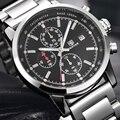 BENYAR Moda Chronograph Esporte Mens Relógios Top Marca de Luxo Militar Cinta de Aço Inoxidável Relógio de Quartzo Relogio masculino