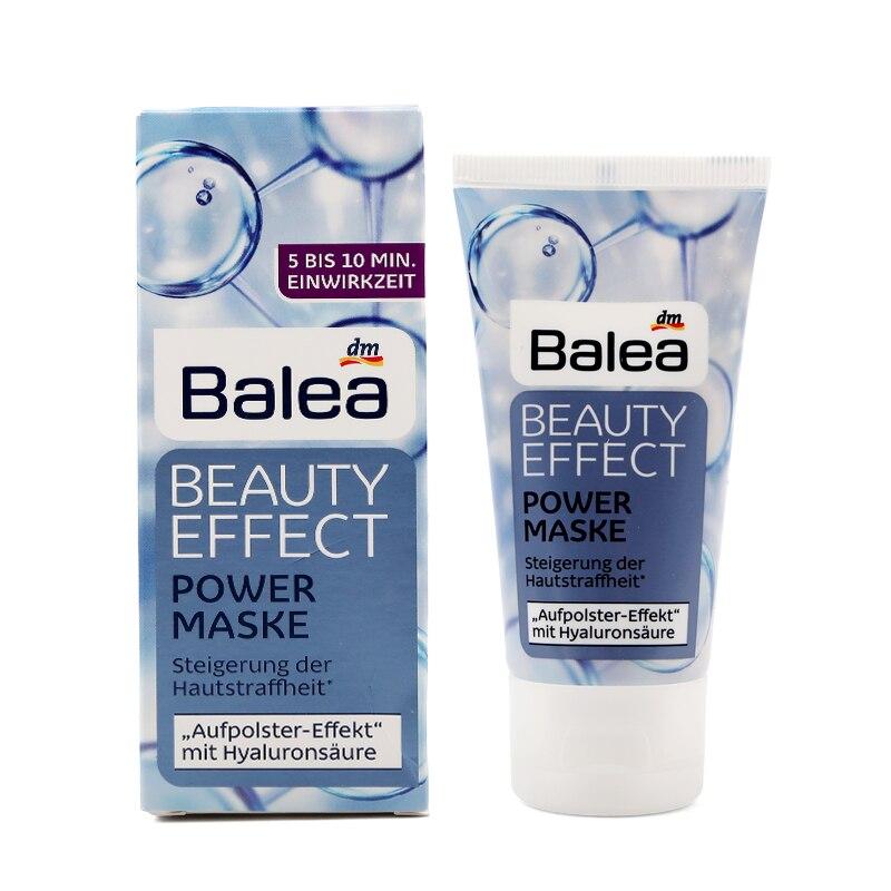 Německo Balea Beauty Effect Maska proti vráskám Power Mask Hyaluronová kyselina a bambucké máslo Vegan Fine lines a suché vrásky hladká kůže