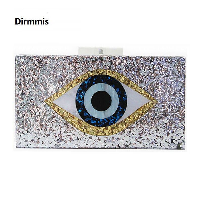 2018 új kézitáska márka divat női messenger táskák Geometriai mozaik pénztárca akril esti táska Pálinkák szem alkalmi válltáska