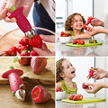 High Quality Fruit Easy Cutter Corer Remover Strawberry Stem Leaves Huller Kitchen Tool hot sale