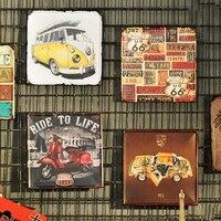 خمر ديكور المنزل المعادن رسم بار ومطعم الجدار الشنق الجدار الحديدي جدارية الإبداعية رث شيك الرئيسية الجدار الديكور