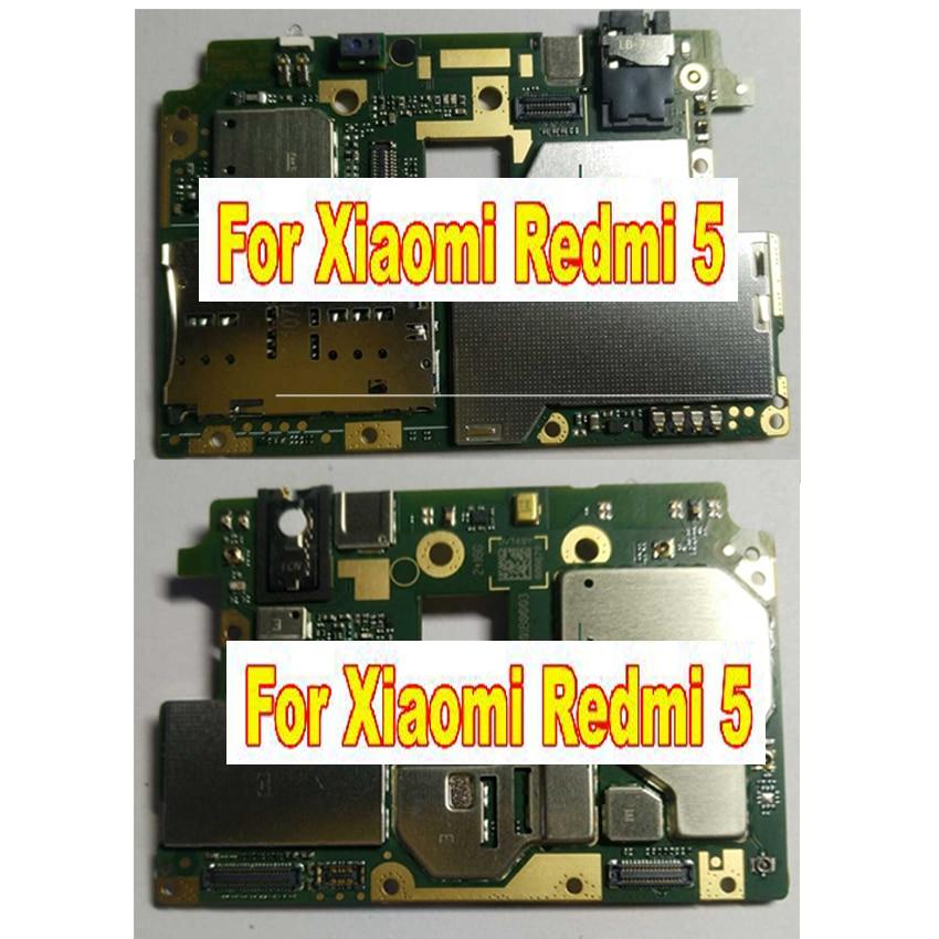 LTPro Plein de Travail Original Débloqué Carte Mère Pour Xiaomi Redmi 5 2 gb 16 gb Carte Mère Carte Logique