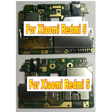 Carte mère déverrouillée dorigine à fonctionnement complet du micrologiciel mondial pour Xiaomi Redmi 5 carte mère logique Circuit sanglier frais 2 GB + 16 GB