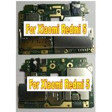 Toàn cầu Miếng Dán Cường Lực Full Làm Việc Ban Đầu Mở Khóa Mainboard Cho Xiaomi Redmi 5 Bo Mạch Chủ Logic Heo Rừng Mạch Phí 2 GB + 16 GB