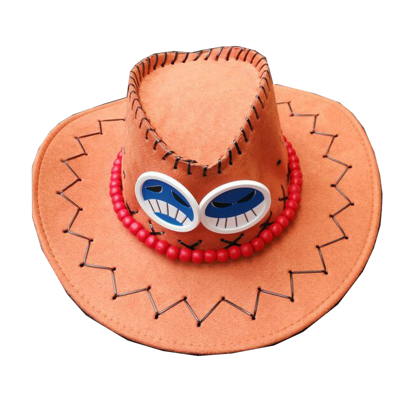 Coshome One Piece Luffy Yellow Straw Boater Beach Hats Tony Chopper  Trafalgar Law White Navy Cap Ace Orange West Cowboy Hats-in Costume  Accessories from ... 2d0a3ab19a7