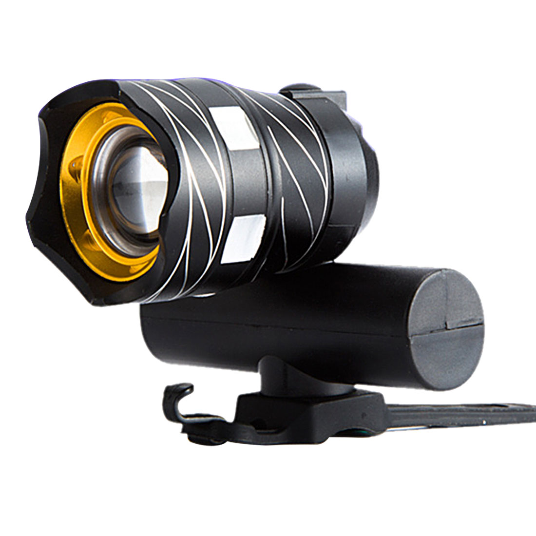 15000LM Zoomable XM-L T6 LED Bicycle Light Bike Front Lamp Torch Headlight With USB Rechargeable Built-in Battery newest usb 8000 lumens flashlight led cree xm t6 l2 front torch bicycle light lamp with usb charger bike clip