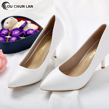 Shoes Women Pumps New Arrival High Quality Shoes 7CM Heels White wedding shoes female shoes bridal shoes spring and autumn capputine new arrival rhinestone women shoes and purse set african summer high heels shoes and bag set for party dress yk 002