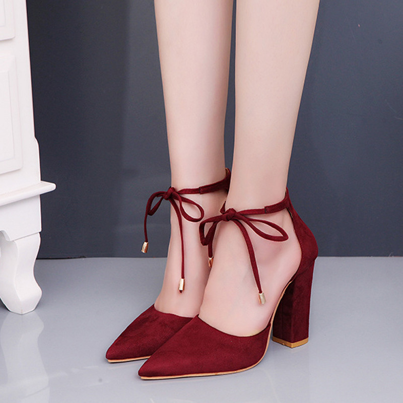 HENGSONG 2018 Sexy Retro High Heels Women's Sandals Summer Shoes Ladies Strappy Pumps Thin Air Heels Woman Lace Up Shoes 911519