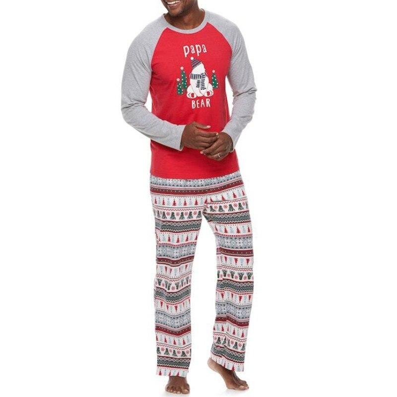 Family Matching Christmas Pajamas Set Papa And Mama Baby