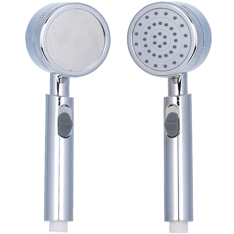 New Pressurized Hand Hold Shower Head Save Water ABS bath Hand Shower Chrome Plated Bathroom Shower Nozzle With Switch