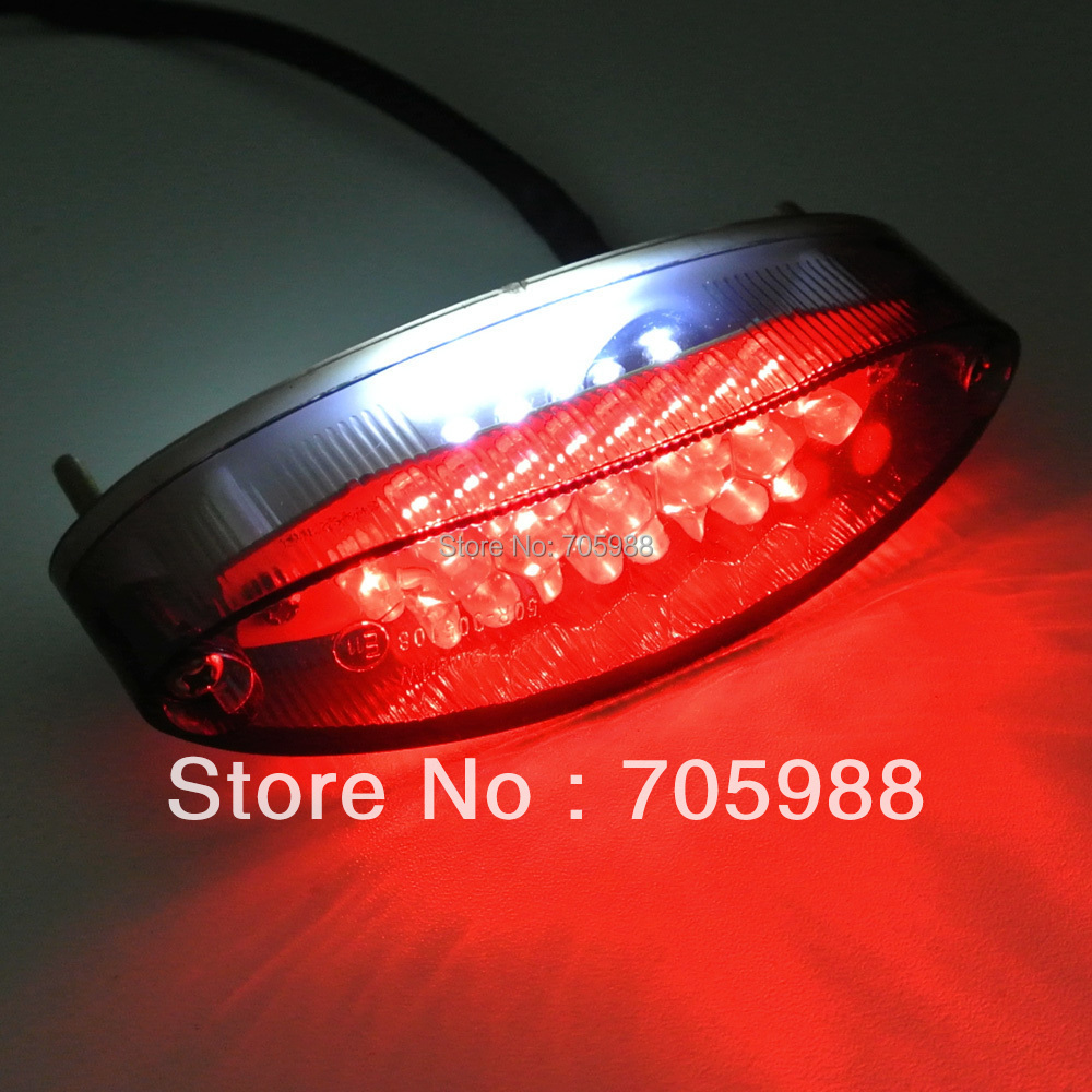 LED motorcycle lights Smoke Motorcycle 28 LEDs Red License Plate Brake Tail Light moto - Goris Liu's store
