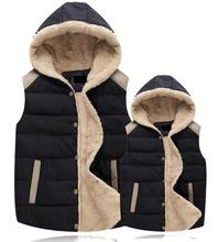 Russian winter warm jacket Women's winter vest new listing fashion Down cotton vest Hooded Thickening Outerwear Casual Jacket