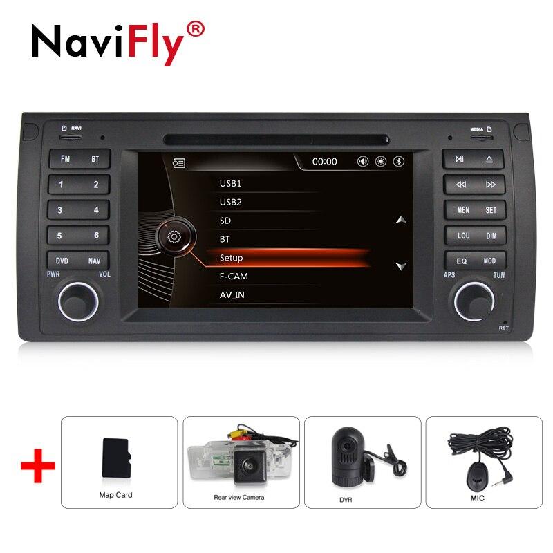 Pas de taxe lecteur DVD de voiture écran capacitif 7 pouces pour BMW E39 X5 E53 avec Radio GPS Navigation 1080P BT RDS DVR caméra de vue
