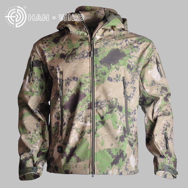 Soft Shell Waterproof Jacket Tactical Windbreaker Outdoor Hunting Camping Hiking Jacket For Men Coat Thin Fleece