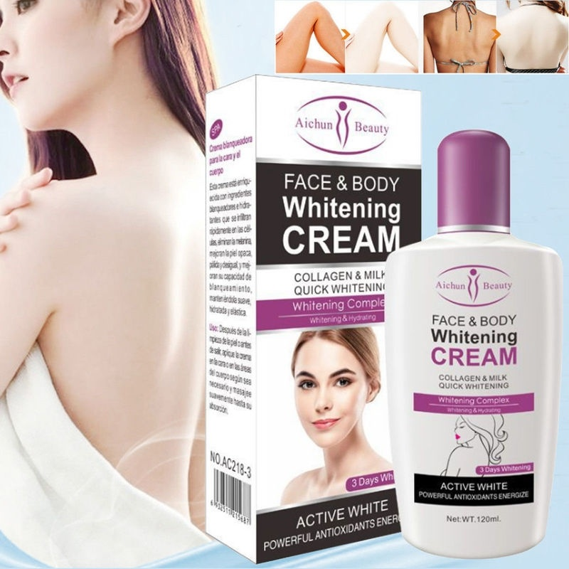 New Arrive Hot Beauty Face Body Whitening Cream For Dark Skin Bleaching Lotion 120ML