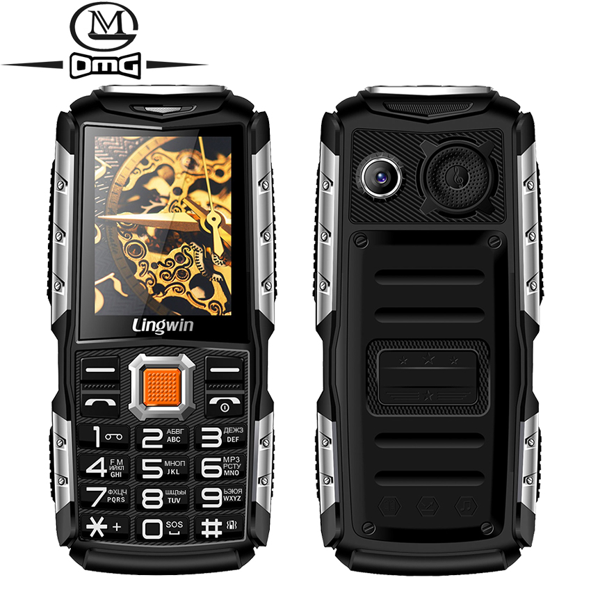 Lingwin N2 Russian keyboard shockproof Mobile phone 3100mAh battery 2 4 FM flashlight Large speaker old