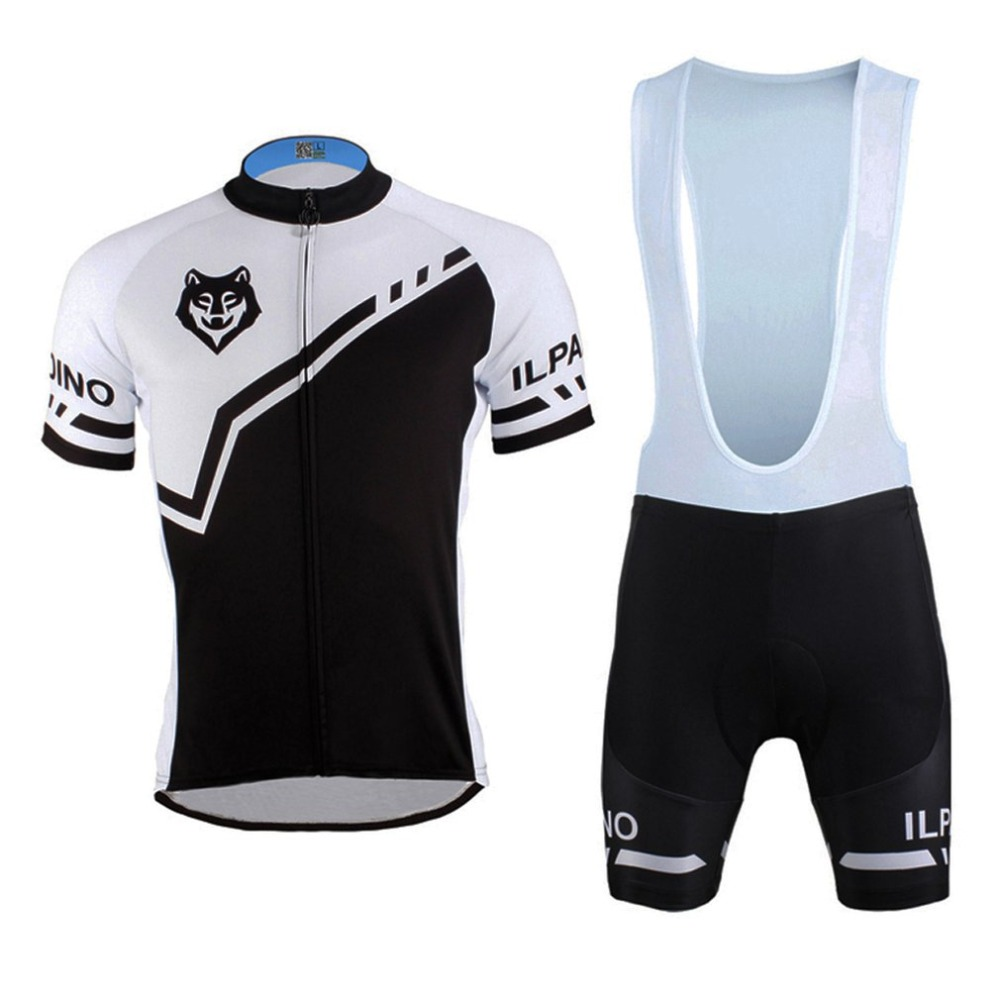 Wolf Print Short Sleeve Cycling Jersey Bib Pants Kits Road Bike Men Clothes Uniforms Shirt Brace Straps Tights Set худи print bar wolf